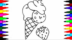 learn coloring squishy ice cream coloring pages videos for