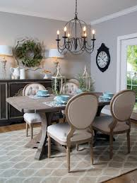 french country dining room wide seat and sloping back twilight