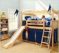 Bunk Bed With Tent At The Bottom Bunk Bed With Slide And Tent Foter