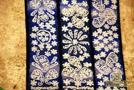 georgian motifs in enamel batik tapestry and painting