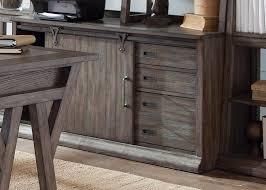 White Oak Furniture Poplar Solids And White Oak Veneers Computer Credenza U0026 Hutch In