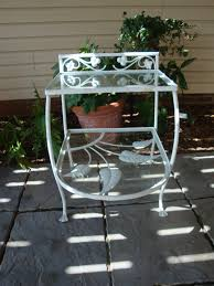 vintage salterini palm springs wrought iron side table 1930 s 1940 s