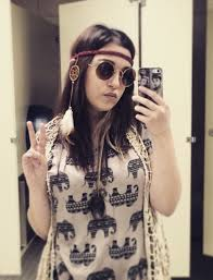 hippie bands blouse ross hippie 70s style peace henna band