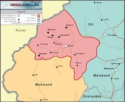 Pakistan On The Map Bajaur Agency Map Critical Threats