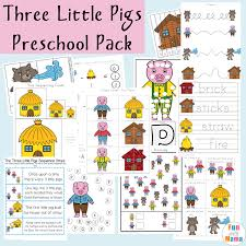 pigs sequencing cards fun mama