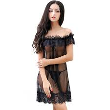 honeymoon nightwear transparent eyelash lace pajamas nightdress