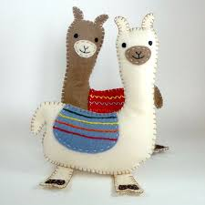 whimsical llama ornaments are handcrafted with handmade