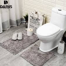 Bathroom Floor Mats Rugs Daris Antislip Bathroom Floor Mat Set Machine Washable Microfiber