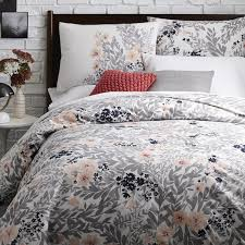 West Elm Duvet Covers Sale 39 00 Size Full Queen Printed Petals Duvet Cover Shams