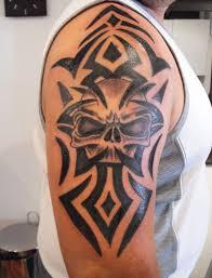 25 cool tribal skull tattoos only tribal