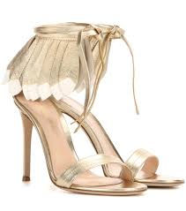 gianvito rossi queen metallic leather sandals mytheresa com