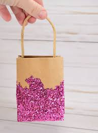 pink gift bags glitter dipped gift bags a bigger