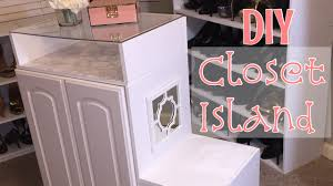 Closet Island With Drawers by Diy Closet Island Build My Boutique Closet Ep3 Youtube