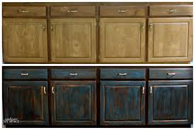 Diy Black Kitchen Cabinets Black Cabinets With Faux Distressing Used 3 Different Colors Of