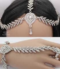 ring with chain bracelet images Kundan hand chain bracelet jewellery panja ring hair chain jpg