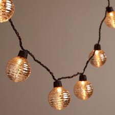 mercury glass string lights silver ribbed mercury glass orb 10 bulb string lights world market