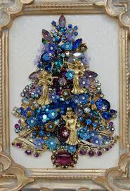 Blue Christmas Trees Decorating Ideas - pin by claire dabelko on christmas pinterest jewelry art