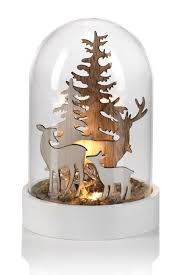 Wooden Deer Christmas Decorations by Zodax Grey Wooden Deer Scene Led Dome Decor Nordstrom Rack
