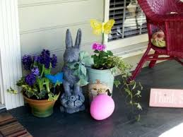 Easter Egg Outdoor Decorations by The 25 Best Outdoor Easter Decorations Ideas On Pinterest Happy