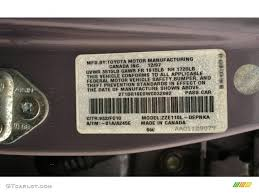 1998 corolla color code 932 for misty plum pearl metallic photo
