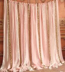 ideas of wedding curtain backdrop with additional pink fabric white lace gold sparkle photobooth backdrop wedding