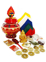 Buddhist Treasure Vase 8 Auspicious Object Wealth Vase Kit At Feng Shui Bestbuy Feng