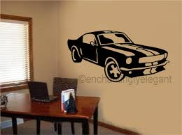 Sports Decals For Kids Rooms by Mustang Shelby Car Vinyl Decal Wall Sticker Office Shop Teen Boy