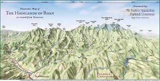 Maps Of Tennessee by Panoramic Map Of Highlands Of Roan From Tn Roan Tennessee U2022 Mappery