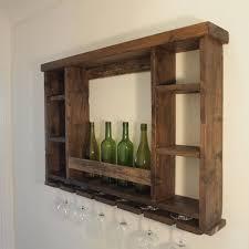 reclaimed wood wine rack dimensions are 100cm x 70cm x 16cm