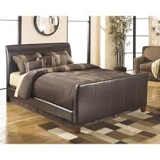 King Bed Frame Upholstered Signature Design By Stanwick Brown King Size Upholstered
