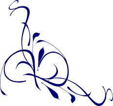 Blue Flower Vine - royal blue flower vine clipart