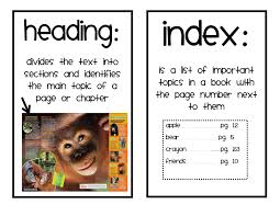 nonfiction text feature worksheet worksheets