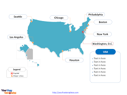 Major Cities Of Usa Map free usa powerpoint map free powerpoint templates