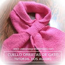 bufandas mis tejidos tejer en navidad manualidades navidenas bufanda cuello gatito en punto santa clara tutorial crochet y dos agujas