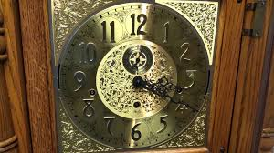 sligh grandfather clock chimes youtube