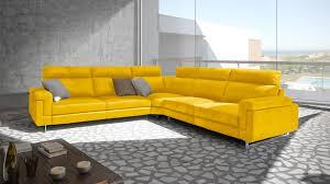 canap jaune canap cuir jaune canap scandinave places en tissu jaune malmo with