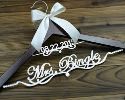 personalized wedding hangers personalized wedding hanger with date deluxe custom bridal hanger
