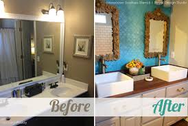 bathroom stencil ideas stencil ideas for a bathroom wall with metallic paint stenciling
