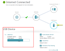 map to usb how do i access the usb media that is connected to my router d