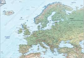 map europe vector vector map europe physical 1287 the world of maps