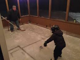 meet the dad who turned his back patio into a hockey rink fannie