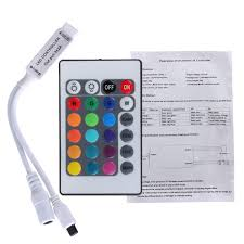 Led Light Strip Controllers by 24 Key Mini Ir Remote Controller For 3528 5050 Rgb Led Strip Light