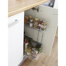 panier coulissant pour meuble de cuisine rangement coulissant 2 paniers latéraux pour meuble l 40 cm delinia