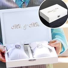 wedding pillow rings ring bearer pillow keepsake box includes jewelry inserts ring