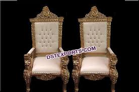 indian wedding chairs for and groom royal look wedding maharaja king chairs dstexports