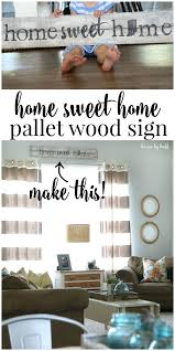 home sweet home interiors pallet wood sign home sweet home house by hoff