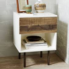 reclaimed wood lacquer nightstand west elm