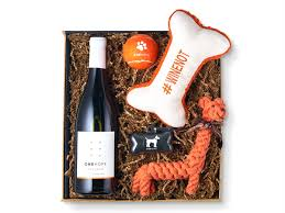 wine for gift for paws woof gift box