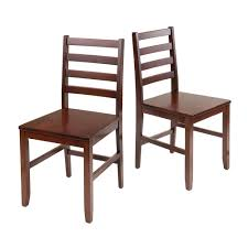 winsome wood 94236 hamilton ladder back dining chair set of 2