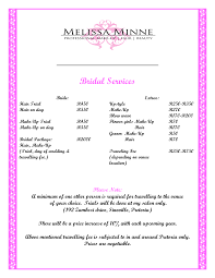wedding hair and makeup prices wedding corners